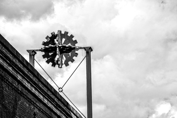 Museum of Science and Industry, Manchester, a black and white photograph Manchester Landscapes Architecture