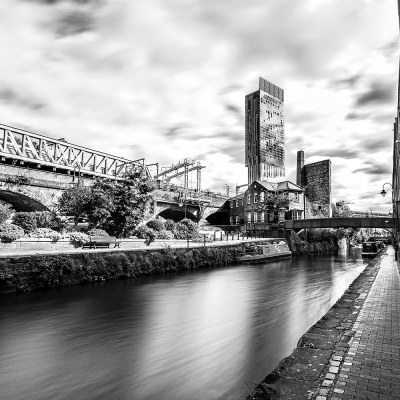 New and old transport links, Manchester landscape photograph Manchester Landscapes Architecture