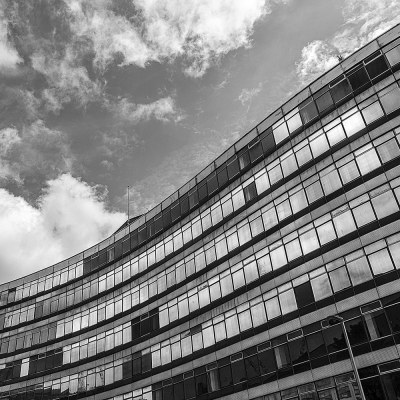 Piccadilly Approach, Manchester Urban Black and White photograph Manchester Landscapes Architecture