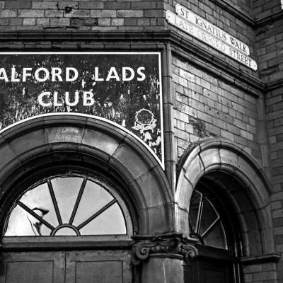 Salford Lads Club, Close Up, Black and White photograph Manchester Landscapes Architecture