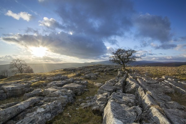 Winskill Stones, Blue Skies, Yorkshire Yorkshire Landscapes Clouds