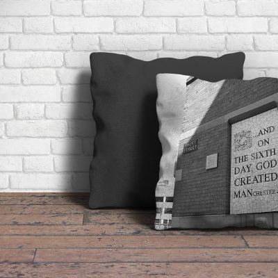 On The Sixth Day Cushion Poster Art and Gift Ideas Afflecks