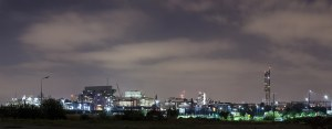 Manchester Lights, Night Skyline Canvas Panoramic Landscapes Canvas