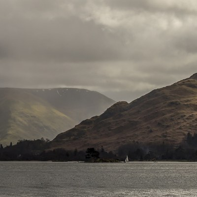 Ullswater Towards Glenridding, Canvas Panoramic Landscapes Clouds