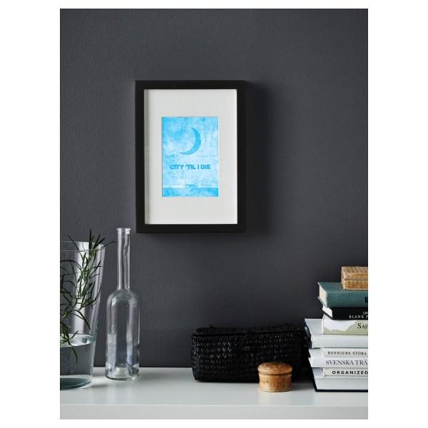 Mini City til I Die Framed  Print Poster Art and Gift Ideas Blue