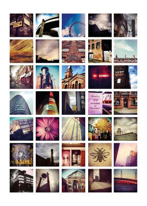 I Love Manchester Poster – Limited Edition Manchester Landscapes Collage