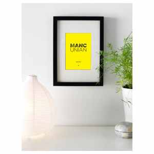 Mini Mancunian Born and Bred Framed Print Poster Art and Gift Ideas Born and Bred