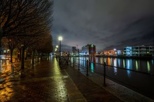 Salford Quays at Night Manchester Landscapes Architecture