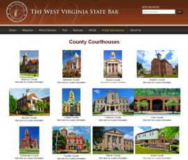 Photo's of every West Virginia County Courthouse from WV State Bar