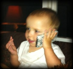 Daniel knows how to use the phone!