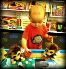 At the bookstore.. with three monkeys.