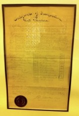 Original charter signed in 1900 forming Charleston Chamber of Commerce