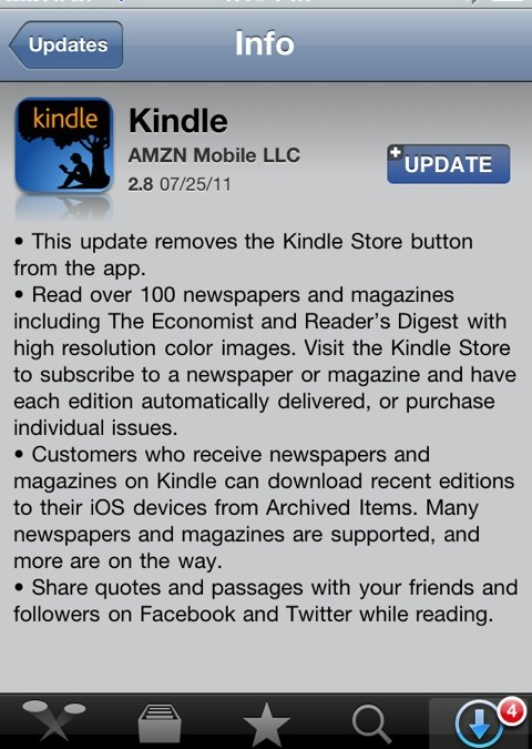 Great Upgrade to the Kindle iPhone/iPad App today – Nite Owls Rejoice!