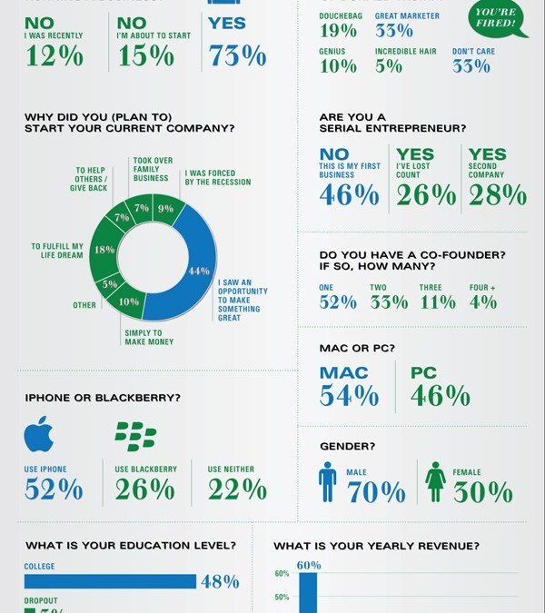Infographic of the Day: The Entrepreneur's State of Mind in 2010