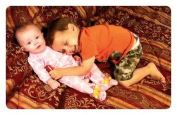 Daniel Hugs Baby Sister Lily