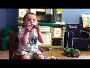 ‪Music Man‬‏ - Daniel plays the Harmonica