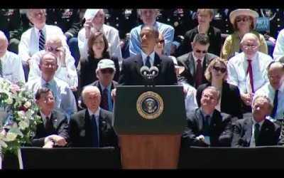 President Obama sharing at Senator Byrd's Memorial Service – Full Video (11min)