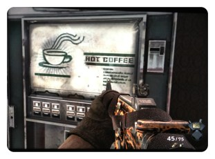 Playing Call of Duty MW3 and came across some coffee!