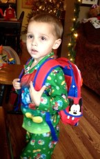 Mickey 'Pack Pack' - Daniel has worn it all morning!
