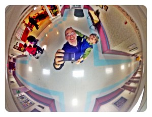 Fun with a ceiling camera mirror