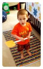 Daniel's New Favorite Toy: a Flyswatter