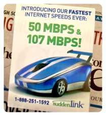 Anyone have this 107Mb internet from Suddenlink yet?