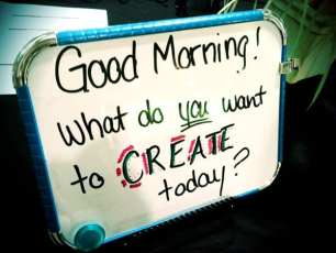 What do you want to create today?  #createwv2012