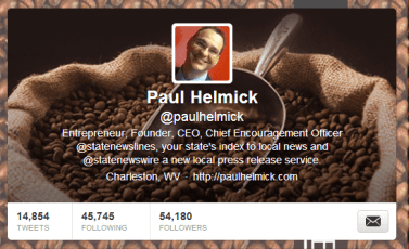 New Twitter Header - What do you think?  Good for a caffeinated entrepreneur?