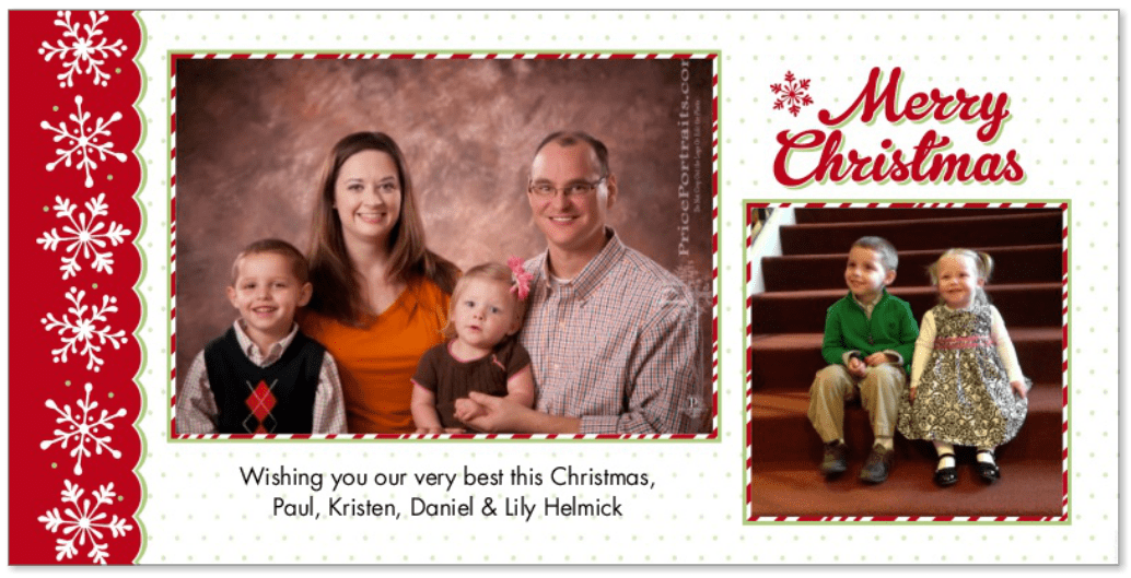 Merry Christmas from Paul, Kristen, Daniel & Lily Helmick 2012!