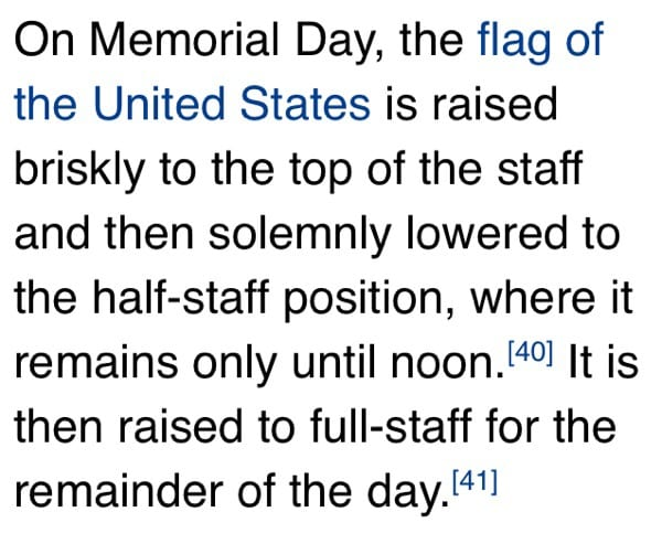 Memorial Day Flag Protocol