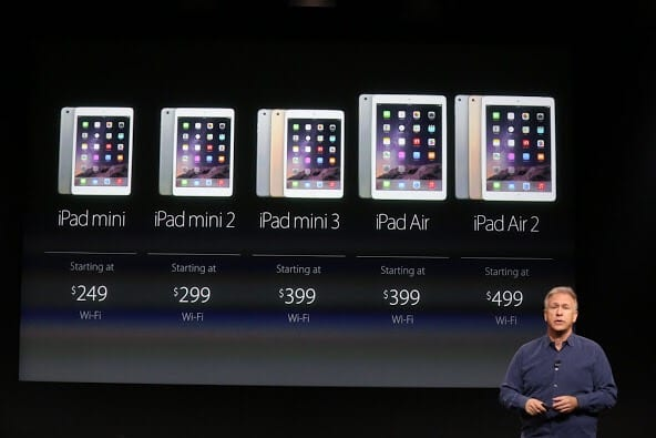 So many iPads to choose from.