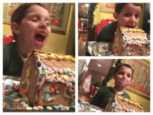 Daniel is hungry for the gingerbread house
