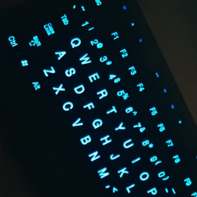 New backlit keyboard for my home workstation. Should make my 5am writing take off!