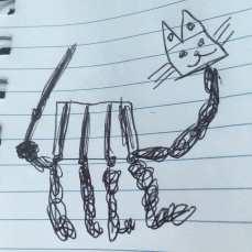 Daniel's robot cat