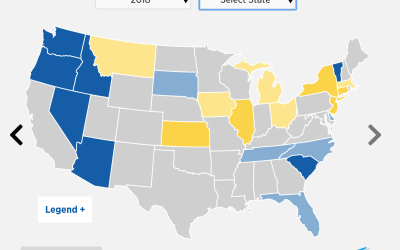 The States People Most Moved Into and Out Of in 2018