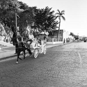 Mayan Taxi Walking in Merida, MX by Birgit Pauli-Haack