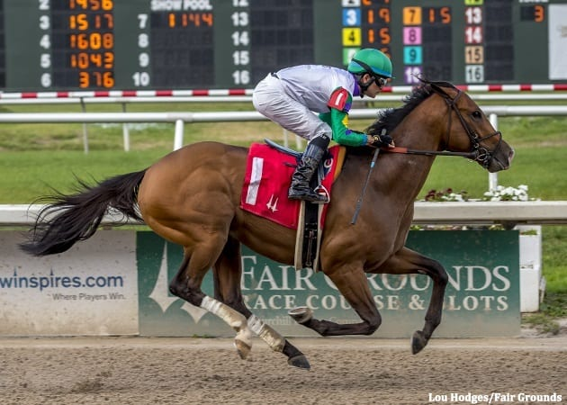 Excitations provided the Fair Grounds Racing Club with its first winner at the meet