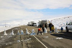 snowmen on south pass