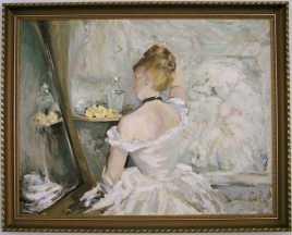 Berthe Morisot, Toaleta (olej na płótnie)