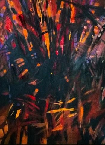 Samotność - akryl na płótnie 80x50cm, 2017