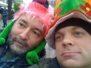 Tim and Paul at Fasching in Munich