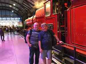 Tim and Paul at the Hogwarts Express