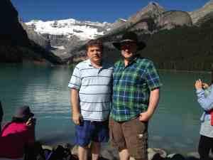 Tim and Paul at Lake Louise