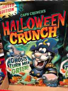 Box of Halloween Crunch cereal