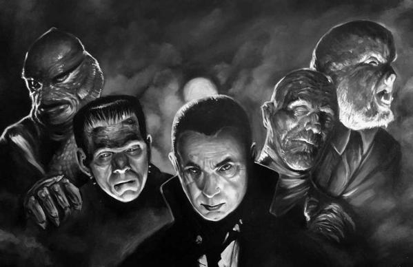Universal Monsters - Art by Paul Maitland