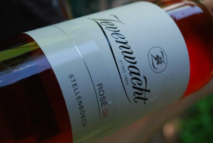 A bottle of Zevenwacht Rose