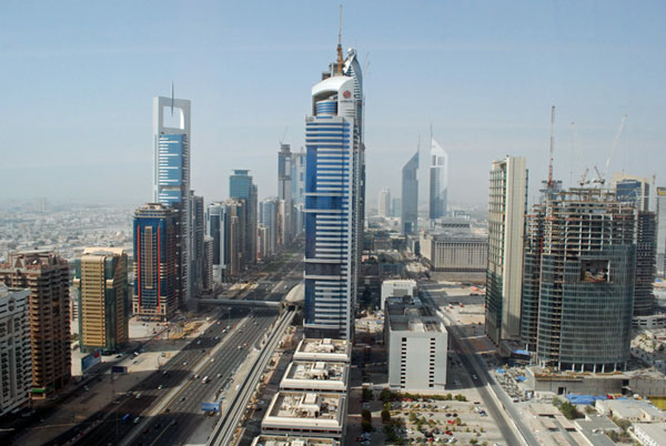 Downtown Dubai from Sheikh Zayed Road