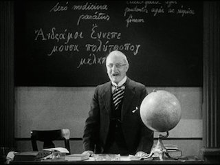 "The jingoistic schoolteacher in ""All Quiet on the Western Front,"" 1930."