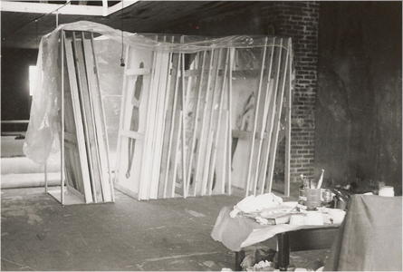 Schneider's studio on Massachusetts Street in the early 1970s.