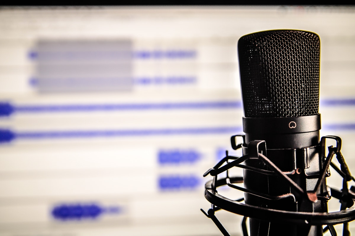 Stock image of podcast technology
